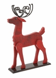 "Home Decor Wooden Metal Painted Deer 19""W, 29""H by Woodland Import"