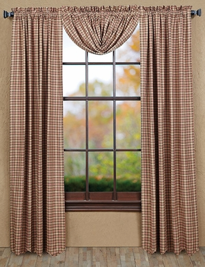 """Homestead Panel Scalloped Lined Set of 2 84x40"""" Brand VHC"""