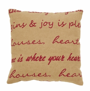 "Homestead Pillow Fabric 10x10"" Brand VHC"