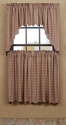 "Homestead Swag Scalloped Lined 36x36x16"" Brand VHC"