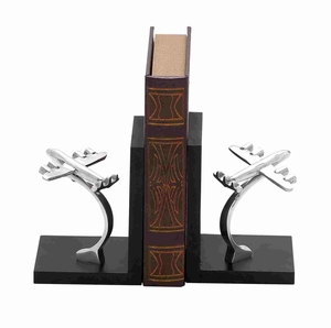 Hungarian Classy Aircraft Styled Bookend Pair Brand Benzara
