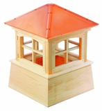 "Huntington Cupola 84"" x 119"" - Cypress Wood and Copper by Good Directions"