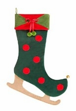Ice Skates Stocking Pair, 8.5 Inch  X 20 Inch Brand C&F