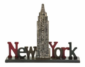 Iconic And Simple New York Tourist Empire State Building Table Decor Brand Woodland