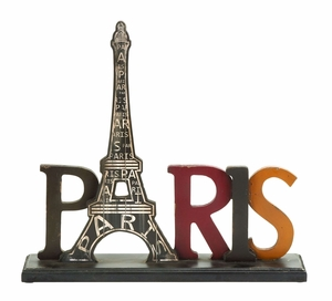 Iconic And Simple Paris Tourist Eiffel Tower Table Decor Brand Woodland