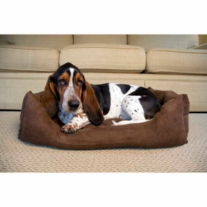 Iconic Pet - Luxury Swaddlez Bolster Pet Bed - Cocoa - Small