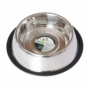 Iconic Pet Stainless Steel Non-Skid Pet Bowl for Dog/Cat - 64 oz