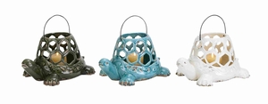 Ideally Designed Ceramic Turtle Lantern with Antique Look & Feel Brand Woodland