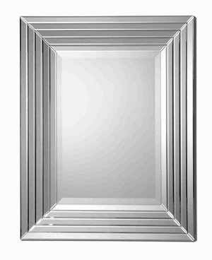 Ikona Stepped Edge Modern Wall Mirror with Stepped Bevel Mirror Edge Brand Uttermost