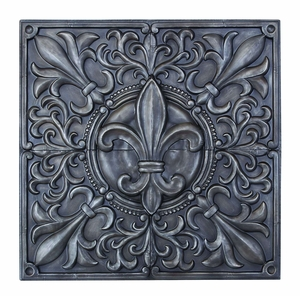 Illustrious Fleur-de-Lis Themed Wall Plaque Decor Brand Woodland