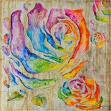Impressive Colored Roses I Classy Painting by Yosemite Home Decor
