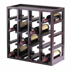 Impressive Kingston Wooden Stackable Slot 16-Bottle Wine Cube by Winsome Woods