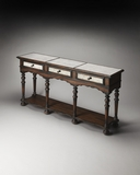 Impressive Mirrored Pecan Console Table by Butler Specialty