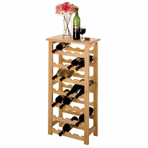 Impressive Piece of 28-Bottle Wine Rack by Winsome Woods