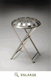 Impressive Polson Iron Folding Stool by Butler Specialty