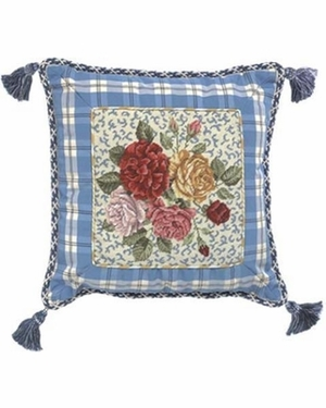 Impressive Porcelain Rose Petit Point Pillow by 123 Creations