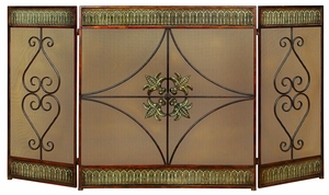 In The Glow Metal Fireplace Screen, Fire screen with Wire Mesh Brand Woodland
