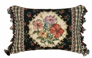 Incredible Hibiscus Petit Point Pillow by 123 Creations