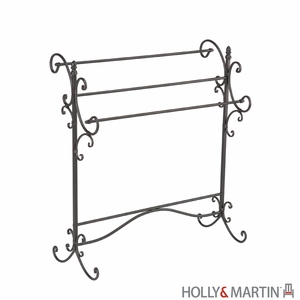 Incredible Holly & Martin Bolton Iron Blanket Rack by Southern Enterprises