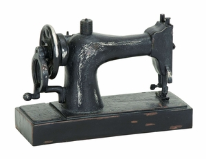 Industrial Age Style Polystone Cast Sewing Machine Decor Brand Woodland