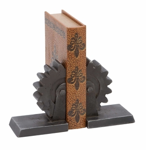 Industrial Bookends - Pair of Cast Iron Industrial Bookends Brand Woodland