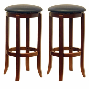"Winsome Wood Innovative & Comfortable Pair of 30"" Swivel Stools"
