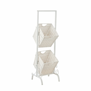 Innovative Piece of 2-Tier Basket Storage by Southern Enterprises
