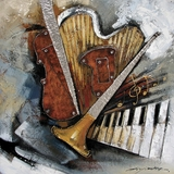 Innovatively Painted Instruments Artwork by Yosemite Home Decor