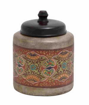 Innsbruck Imperial Beautifully Painted Jar Brand Benzara