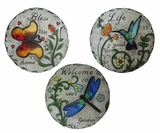 Inspirational Bird and Insect Stepping Stone - Assorted (2 of each design) Tray of 6 by Alpine Corp