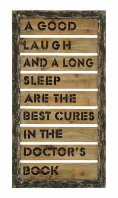 Inspirational Humor And Laughter Wall Decor In Antique Wood Brand Woodland
