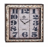 Intentionally Aged Metal Wall Clock by Woodland Import