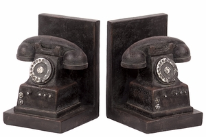 Interesting & Irresistible Set of Resin Phone Bookend by Urban Trends Collection