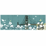 Interestingly Painted Golden Gate Bridge II Painting by Yosemite Home Decor