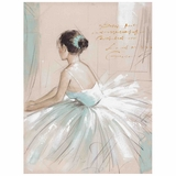 Interestingly Painted Prima Ballerina Painting by Yosemite Home Decor