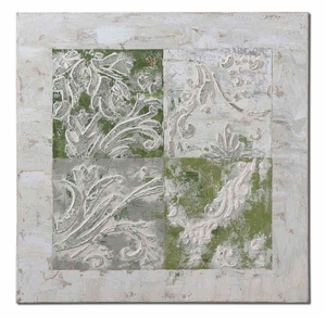 Interlocked Elements Canvas Art with Textured Details Brand Uttermost