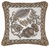 "Intricate and Lovely Paisley 2 Needlepoint Pillow 18x18"" by 123 Creations"