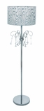 Intricately Detailed Metal Floor Lamp with Metal Beaded Tassels Brand Woodland