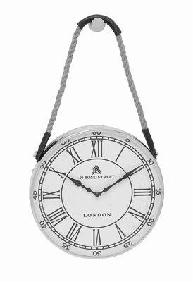 Ipswich Ornamental Rope Hanging Wall Clock Brand Benzara