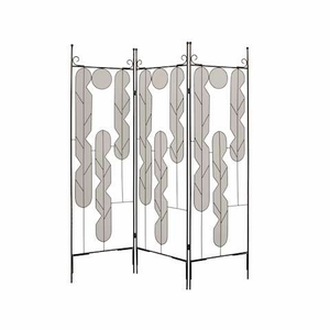 Iron Art Screen Crafted with Artistic Wire Inset Design Brand Screen Gem