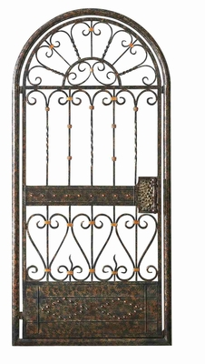 Iron Gate Metal Wall Decor Sculpture in Vibrant Color Finish Brand Woodland
