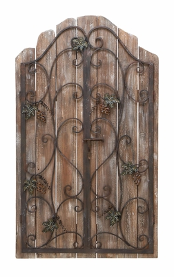 Iron Gate Wall Decor - Antique Wall Decor With Reclaimed Wood Brand Woodland