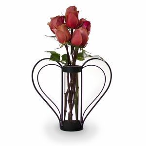 Iron Heart-shaped Sweetheart Flower Vase by Danya B