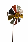 Iron- Multi Color, WindMill Garden Stake by Alpine Corp