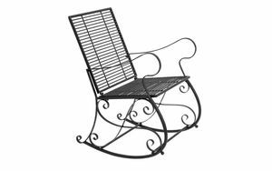 Iron Rocking Chair - Old Time Metal Rocking chair for Patio Brand Woodland