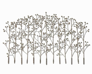 Iron Trees Metal Wall Art In Antique Silver Champagne Finish Brand Uttermost
