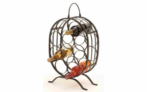 Iron Wine Holder - Table Top 10-Bottle Wine Holder Brand Woodland