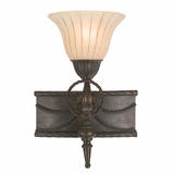 Isabella Collection Attractive 1 Light Vanity Lighting in Earthen Bronze Frame by Yosemite Home Decor