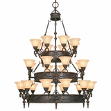 Isabella Collection Attractive 28 Lights Chandelier with shade in Earthen Bronze by Yosemite Home Decor