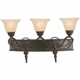 Isabella Collection Creative Stylized 3 Light Vanity Lighting in Earthen Bronze Frame by Yosemite Home Decor